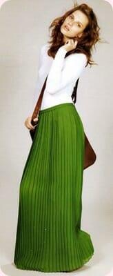 Faldas largas, cómo combinarlas