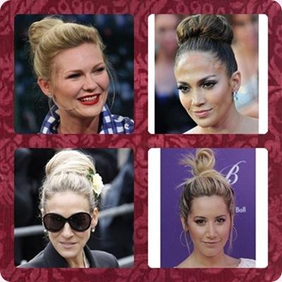 Tendencias peinados: Las celebrities apuestan por los moños altos
