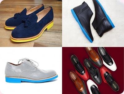 Tendencias zapatos hombre 2013: Suelas de colores!!