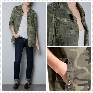 Las camisas militares serán tendencia en Otoño-Invierno 2012-2013