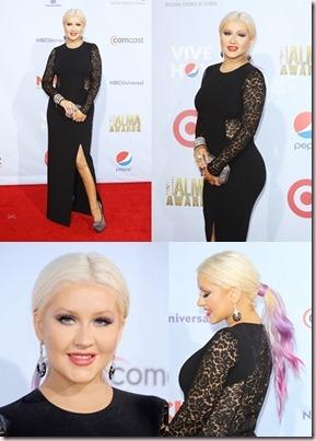 Christina Aguilera no acierta con su vestido con transparencias