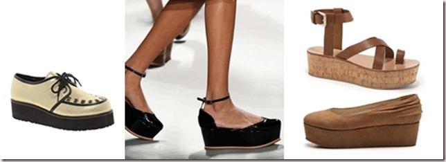 Tendencias zapatos mujer 2013, ¿qué son las Flatforms?