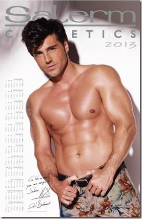 David Bustamante, chico del calendario 2013 de Salerm Cosmetics