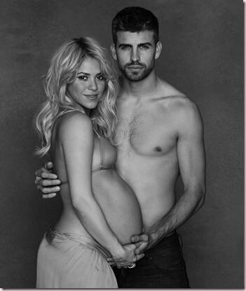 Shakira y Piqué se estrenan como papás 1