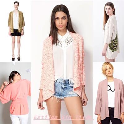 Las chaquetas Kimono tendencia moda mujer Primavera 2013