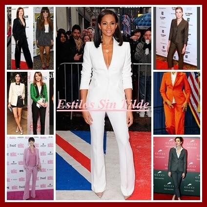 Trajes chaqueta son tendencia temporada primavera verano 2013. Las celebrities ya lo llevan.