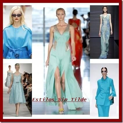 El azul turquesa tendencia en moda mujer