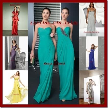 Vestidos de fiesta largos para bodas 2013
