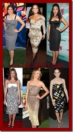 El vestido tubo sube posiciones entre las celebrities