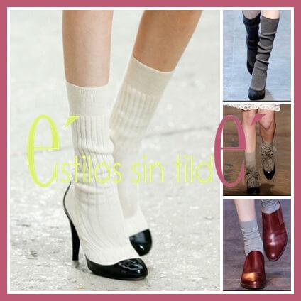 Calcetines con zapatos de salón 1