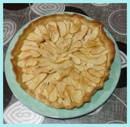 Tarta de manzana sin colesterol