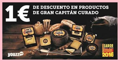 cupón 1 euro probar queso curado Gran Capitán