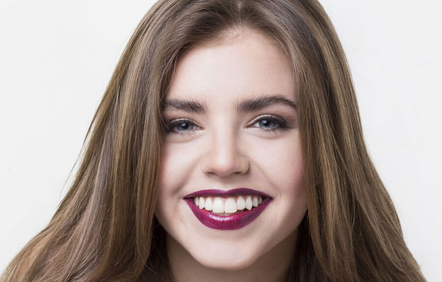 chica con una sonrisa perfecta