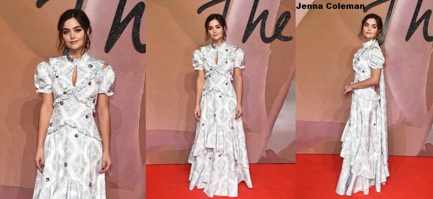 Jenna Coleman en los Fashion Awards 2016