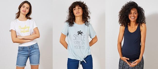 Camisetas de Algodón Orgánico Mujer en Kiabi